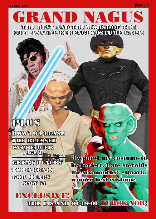 Showcase: Tag Team Photoshop II, The Sequel – The prompt for round 2 was to take my partner's creation, Lou Ferengi, and show what hijinks he'll be in during the coming year.