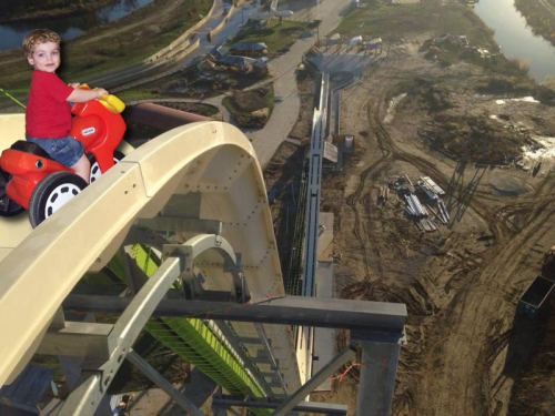 Using this image of the world's tallest water slide, just for a fun project at Madmann.