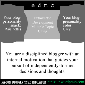 My blog is in the grey area. Go figure.